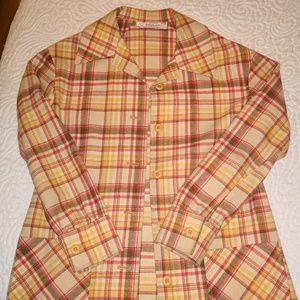 Vintage Pendleton Plaid Wool Jacket